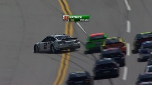Keselowski's 200mph save after contact with Danica Patrick