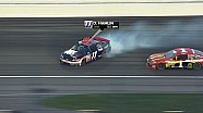 Bowyer, Hamlin, & Ambrose Survive Big Spins - Kansas - 2014 NASCAR Sprint Cup