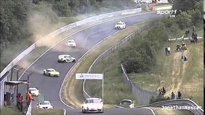 Nurburgring 24: Viper almost drills safety car but hits a Mini Cooper instead