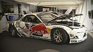 Red Bull drifter Mad Mike Whiddett and his insane Mazda RX7 at Goodwood Festival of Speed