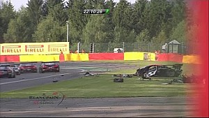 Massive crash of Tim Mullen at the 24 Hours of Spa