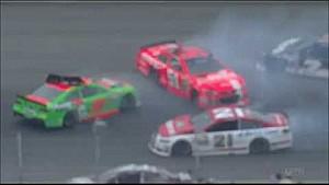 Danica triggers multi-car wreck - 2014 Michigan
