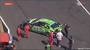 David Reynolds Bathurst crash 2014 qualifying