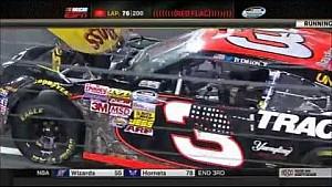 Pileup sends cars everywhere - 2014 NASCAR Nationwide Charlotte