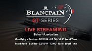 Blancpain Sprint Series - Baku - Qualifying Race - Live Stream..