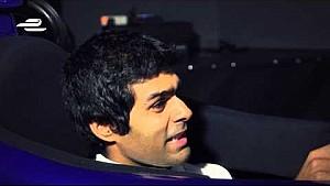 Karun Chandhok in the Mahindra Racing simulator