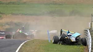 Toyota Racing Series Hampton Downs 2015 Race 1 Huge First Lap Crash