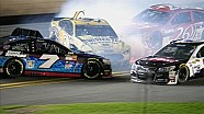 Jeb Burton Starts Big Wreck - Budweiser Duel 2 - 2015 NASCAR Sprint Cup