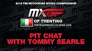 Pit chat Tommy Searle at the MXGP of Trentino 2015