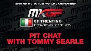 La charla con Tommy Searle en el MXGP de Trentino 2015
