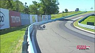 E.J. Viso crash - Watkins Glen practices - IZOD Indycar Series 2010 [HD]