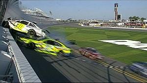 Parker Kligerman Flips Into Fence - Daytona 500 Practice - 2014 NASCAR Sprint Cup
