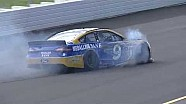 Sam Hornish Jr. y un duro choque contra el muro