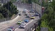 Crash de Tiago Monteiro au départ de la Course 2 à Vila Real