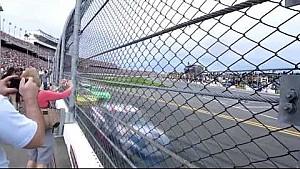 NASCAR en Daytona desde la valla