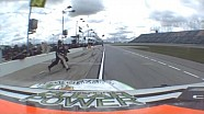 Hemric hits jackman during pit stop