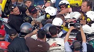 Todd Bodine, David Starr fight on pit road