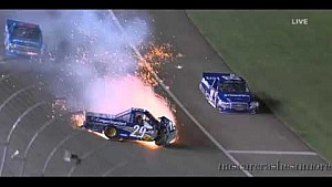 Austin Theriault crashes at Las Vegas