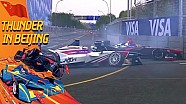 Da Costa en Villeneuve crash - ePrix van Peking