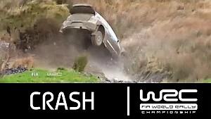 Wales Rally GB: Crash Latvala