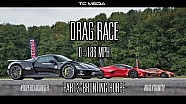 DRAG RACE LaFerrari v P1 v 918 Spyder | 0-186 mph