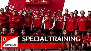 Sebastian Vettel, Marc Gené y Esteban Gutiérrez en el Santander Group City