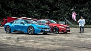 BMW i8 vs BMW M4 - Top Gear: Drag Races