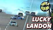 Landon Cassill breaks down his narrow escape