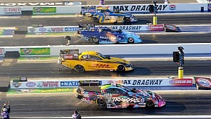 The NHRA Four-Wide Nationals presented by Lowes Foods are a spectacular sight to see