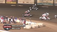 Highlights: World of Outlaws Craftsman Sprint Cars Perris Auto Speedway April 16th, 2016