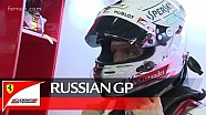 The Russian GP with Sebastian Vettel - Scuderia Ferrari 2016