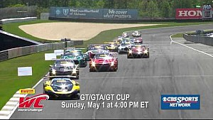 PWC 2016 GT/GTA/GT Cup at Barber CBSSN Promo