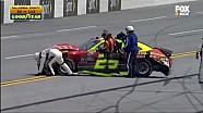 NASCAR XFINITY serie Talladega Superspeedway: Choque de Chris Cockrum y Joey Gase