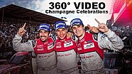 360 VIDEO:  Champagne for the Overall Winners at Spa