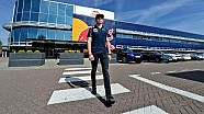 Max Verstappen checks in at Red Bull Racing Factory