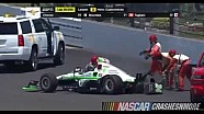 Sage Karam crash -  Indy 500