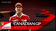 The Canadian GP with Sebastian Vettel - Scuderia Ferrai 2016