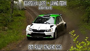 Esapekka Lappi - Janne Ferm, Skoda Fabia R5 - PET Rally Finland 2016