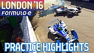 All-Action London 2016 Free Practice Highlights (Sun) - Formula E