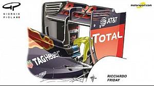 Giorgio Piola - Red Bull RB12 ala y monkey seat trasero - Hungría