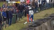 英国F4诺克希尔站Devlin DeFrancesco 和 Petru Florescu事故