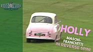 Holly Mason-Franchitti's pink A35 flies off track!
