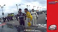 Larson talks to Jones post race