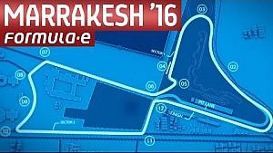 Mapa del circuito en Marruecos - Fórmula E