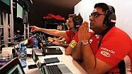 Il ponte di comando della Mahindra Racing