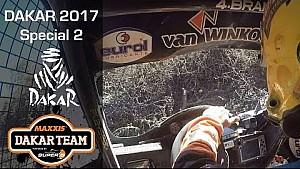 Tim y Tom Coronel en el Dakar: etapa 2