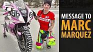 Messaggio a Marc Marquez - Ragazza sul ghiaccio