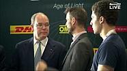 Il principe Alberto di Monaco in visita all'EGT
