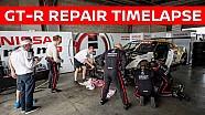 Восстановление машины Nissan GT-R перед квалификацией «12 часов Батерста»