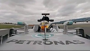 360 video: Lewis Hamilton drives the Mercedes W08 - with commentary!